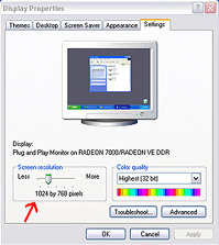 Windows screen resolution